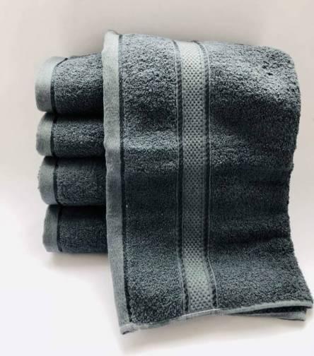 Полотенце серое  - фото 3