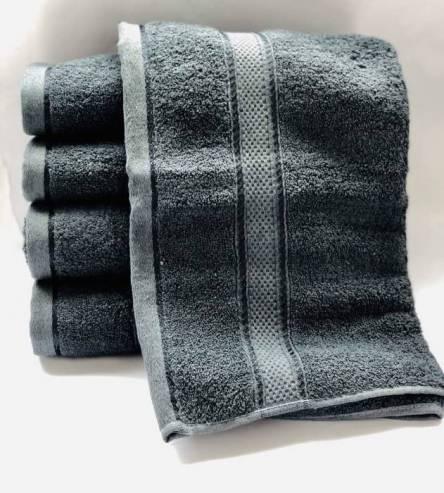 Полотенце серое  - фото 2