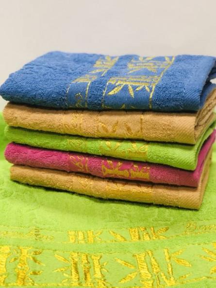 полотенце бамбук золото - фото 2