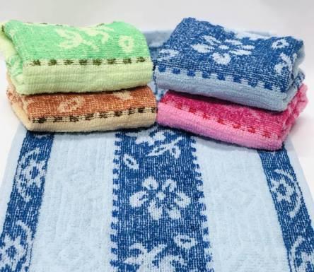 Фото  товара Кухонные полотенца для рук Цветочки махровые