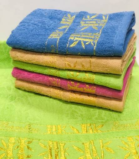 полотенце бамбук золото - фото 5