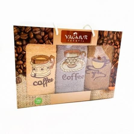 Набор полотенец кофе 3-ка - фото 2