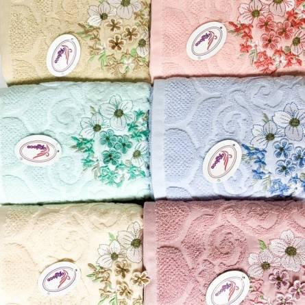Полотенца цветы объемные  - фото 3