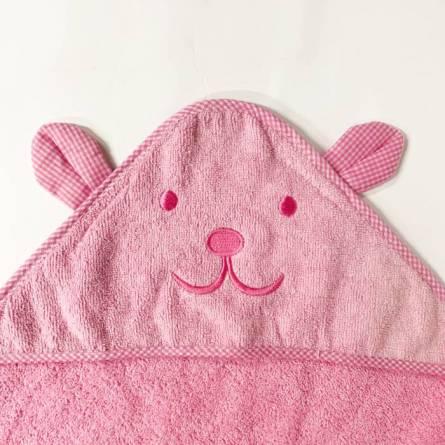 Полотенце детское капюшон зайчик - фото 3
