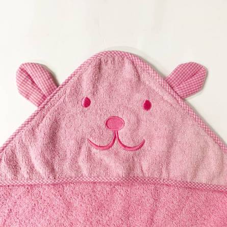 Рушник дитячий капюшон зайчик - фото 3
