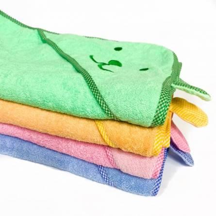 Полотенце детское капюшон зайчик - фото 1