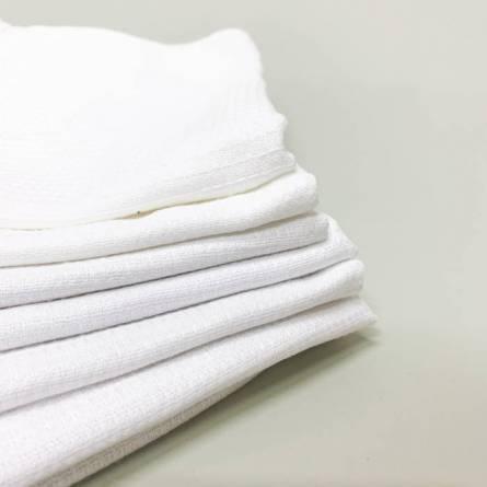 Белые вафельные полотенца - фото 2