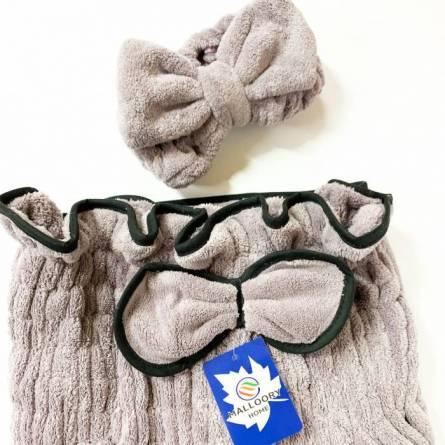 Сплошное полотенце-халат для сауны - фото 9