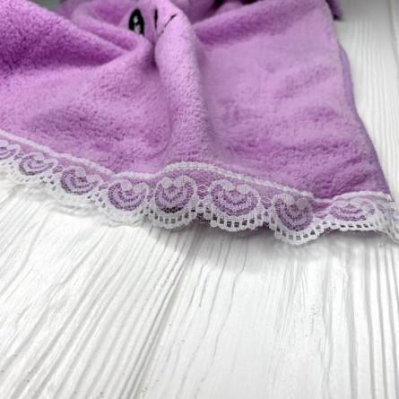 Полотенца для рук с кружевом - фото 4