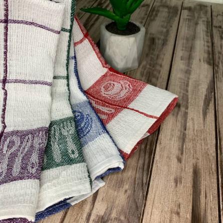 Полотенца льняные столовые приборы - фото 3