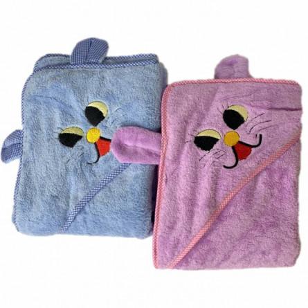 Рушник дитячий з капюшоном зайчик - фото 2