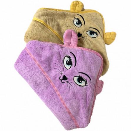 Рушник дитячий з капюшоном киця - фото 2