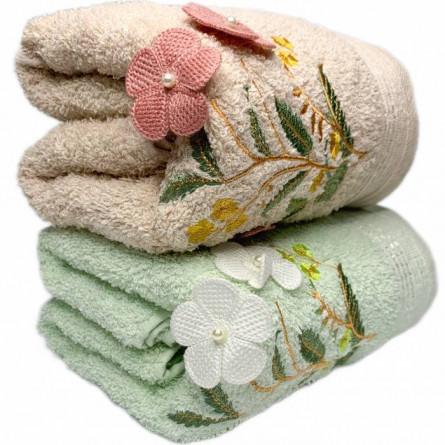 Полотенца объёмные цветы - фото 1