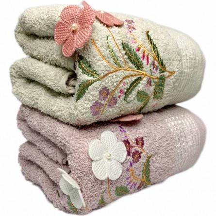 Полотенца объёмные цветы - фото 3