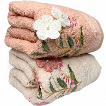 Полотенца объёмные цветы - фото 2