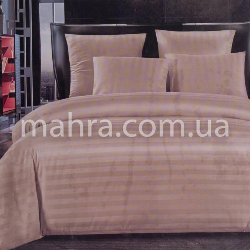 Комплект постельного белья сатин полоска (простынь на резинке) - фото 1
