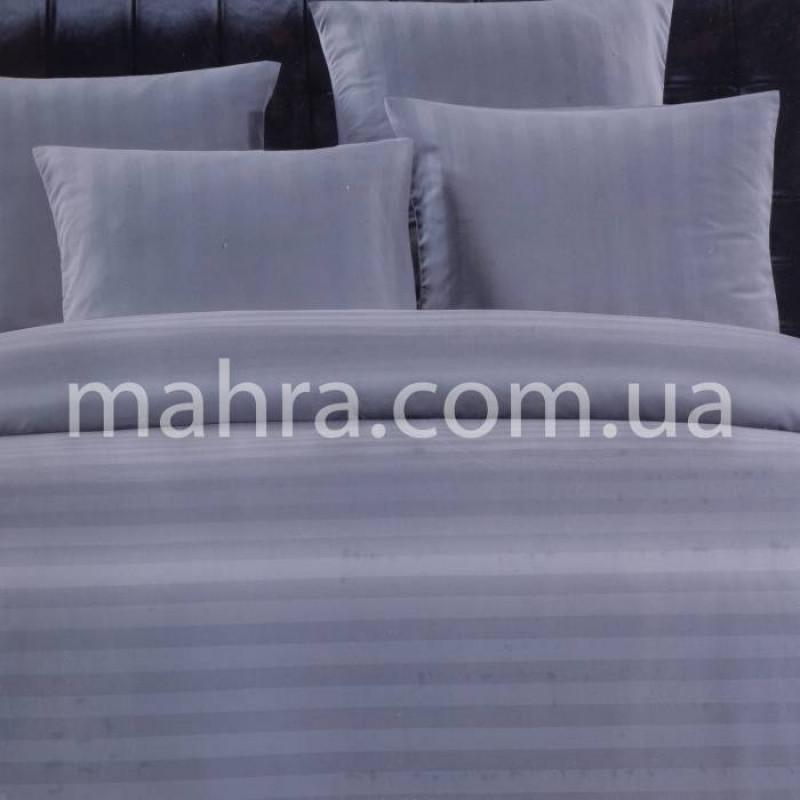 Комплект постільної білизни сатин смужка (простирадло на резинці) - фото 1