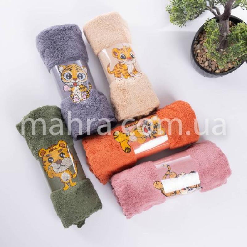 Полотенца вышитий тигр - фото 3