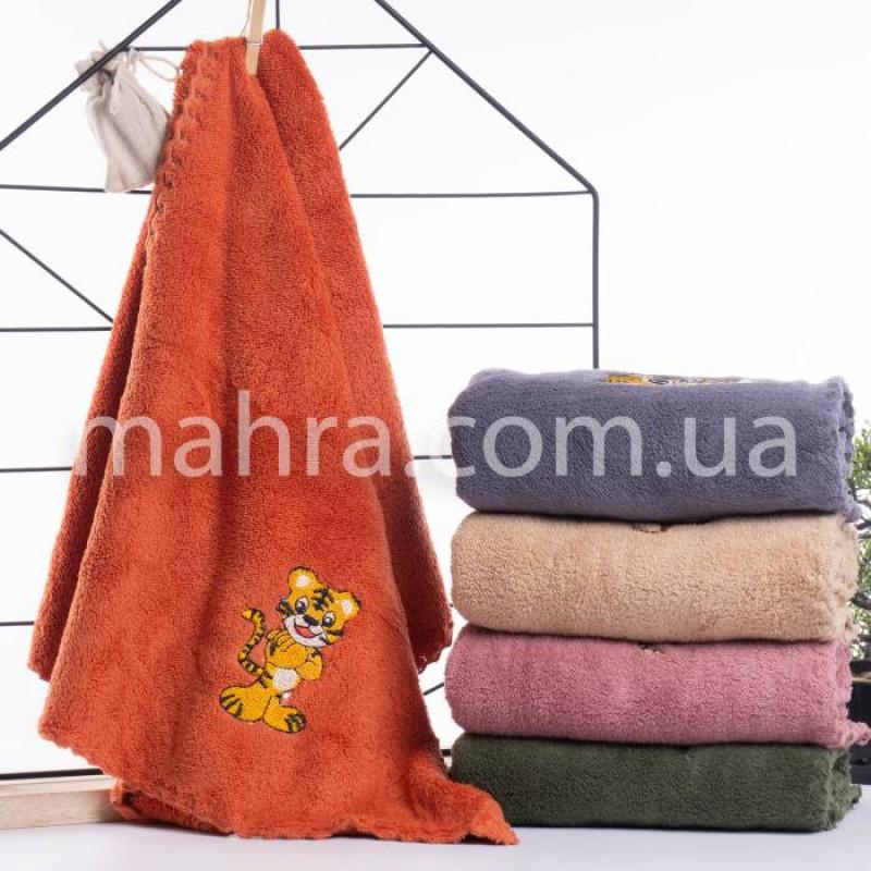 Полотенца вышитий тигр - фото 1