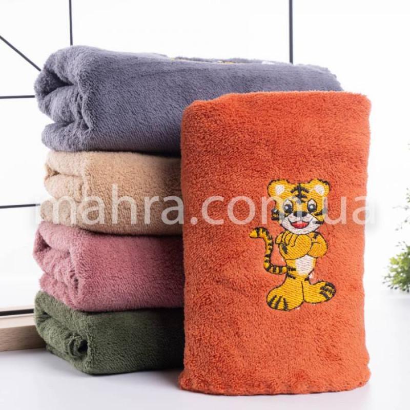 Полотенца вышитий тигр - фото 2