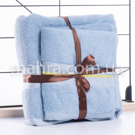Набір махрових рушників в сумці - фото 5