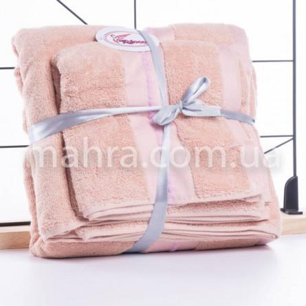Набір махрових рушників в сумці - фото 3