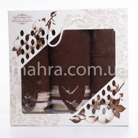 Набор полотенец махровый лист - фото 2