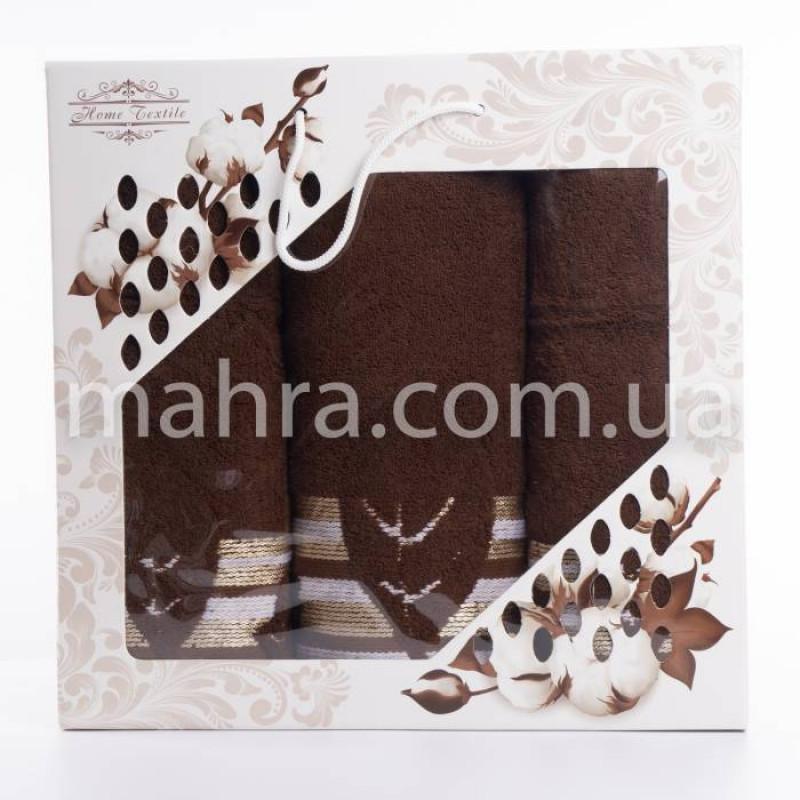 Набір рушників махровий лист - фото 2
