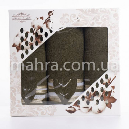 Набор полотенец махровый лист - фото 3