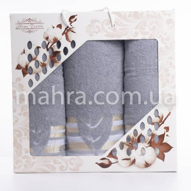 Набір рушників махровий лист - фото 4