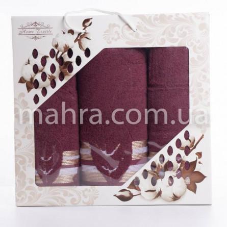Набор полотенец махровый лист - фото 6