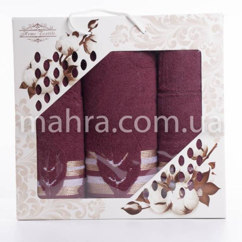Набір рушників махровий лист - фото 6