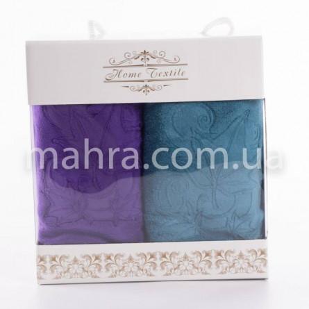 Набор полотенец кленовый лист микрофибра - фото 1