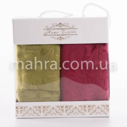 Набор полотенец кленовый лист микрофибра - фото 3