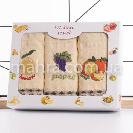 Набір вафельних рушників Фрукти 3-ка - фото 2