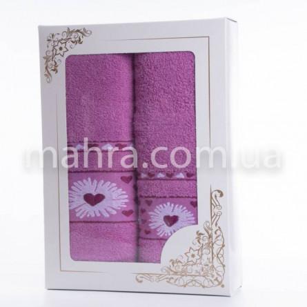 Набір рушників серце квітка - фото 1