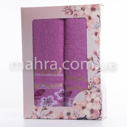 Набор полотенец золотой лист - фото 1