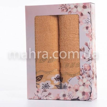Набор полотенец золотой лист - фото 4