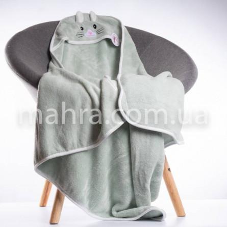 Рушник дитячий з капюшоном зайчик new - фото 2
