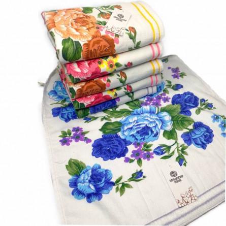 Полотенца цветы лён - фото 2