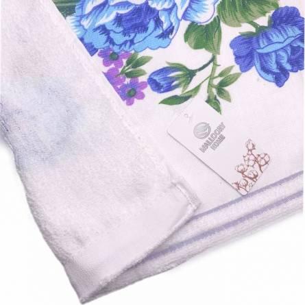 Полотенца цветы лён - фото 4
