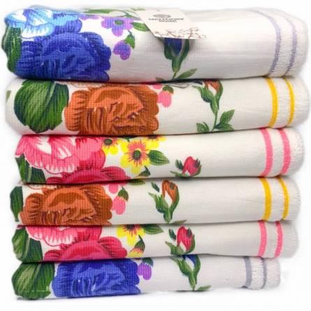 Полотенца цветы лён - фото 3