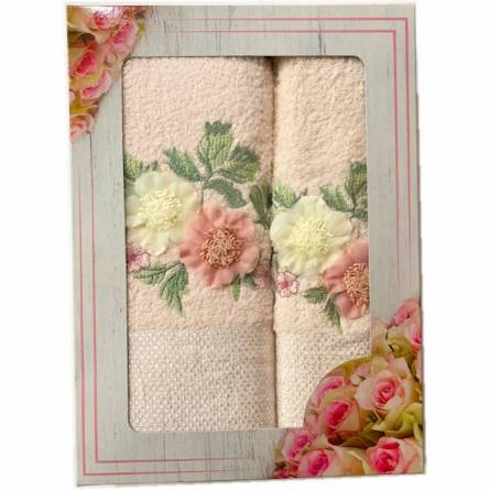 Набор полотенец цветы - фото 1