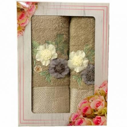 Набор полотенец цветы - фото 2