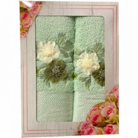 Набор полотенец цветы - фото 3