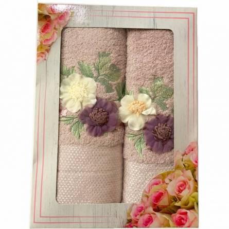 Набор полотенец цветы - фото 4