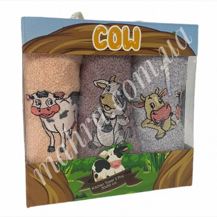 Набор полотенец корова 3 - фото 1