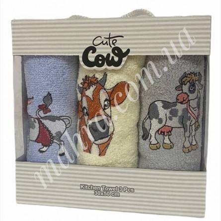 Набор полотенец корова 3 - фото 2