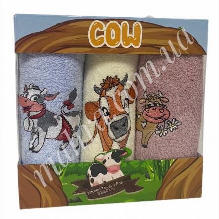 Набор полотенец корова 3 - фото 3