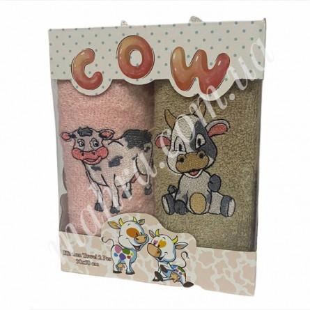Набор полотенец корова 2 - фото 1